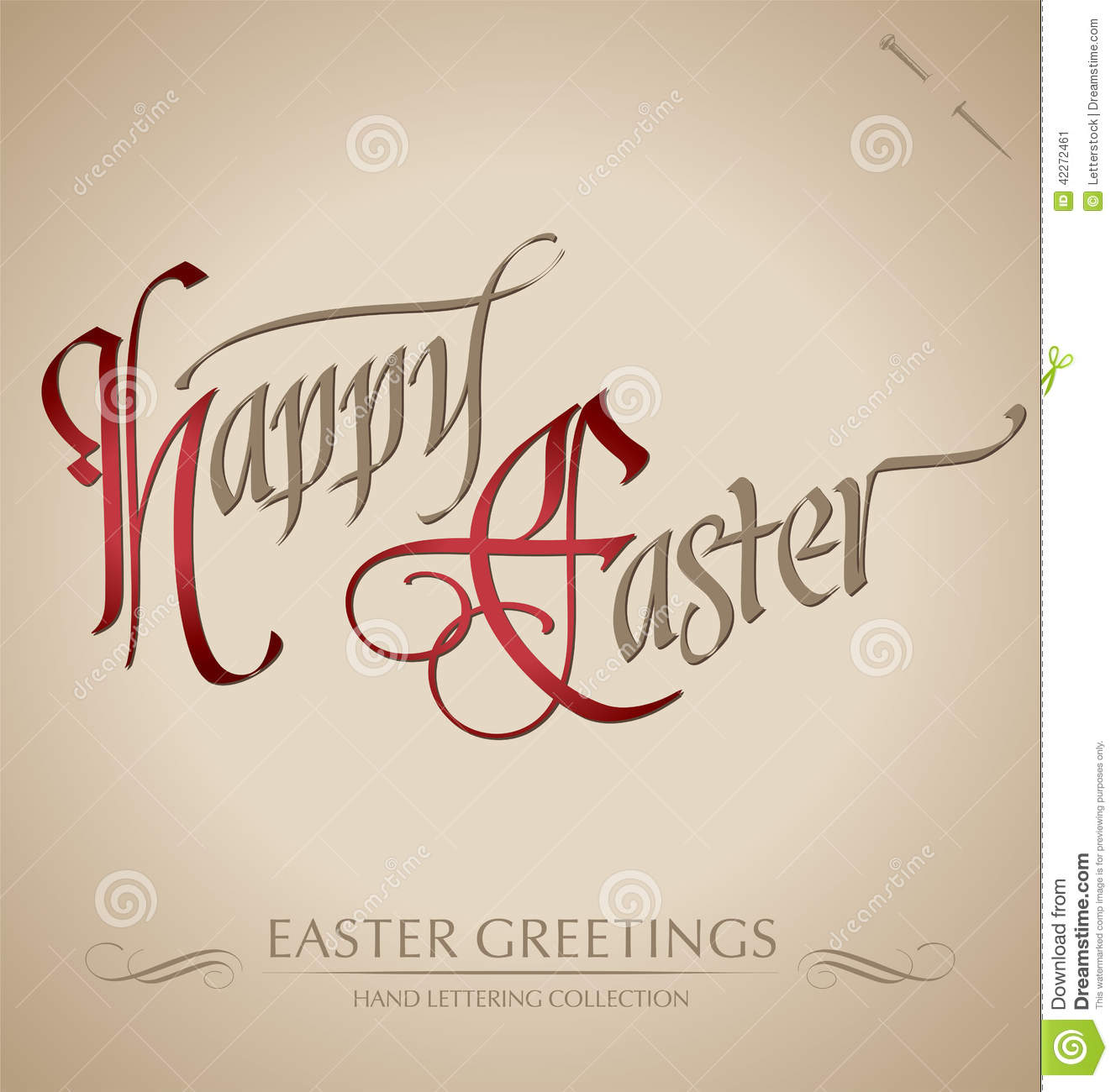 Happy easter hand lettering vector stock image
