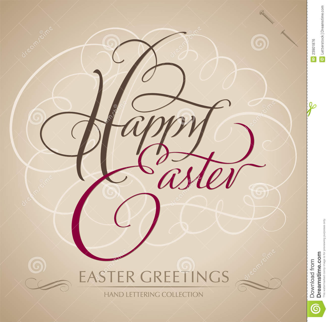 Happy easter hand lettering vector royalty free stock