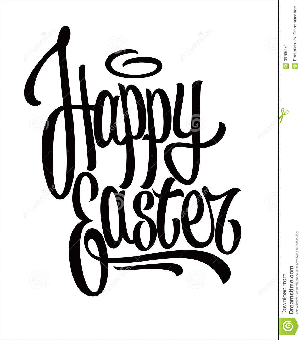 Happy easter hand lettering stock photo image