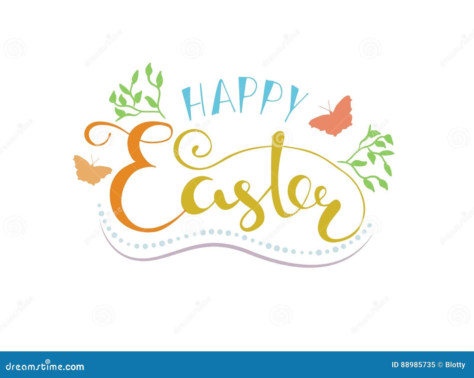 Happy Easter Lettering Typography. Seasons Greetings Stock Vector ...