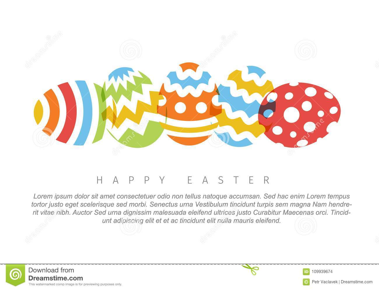 happy easter minimalist colorful easter card stock vector