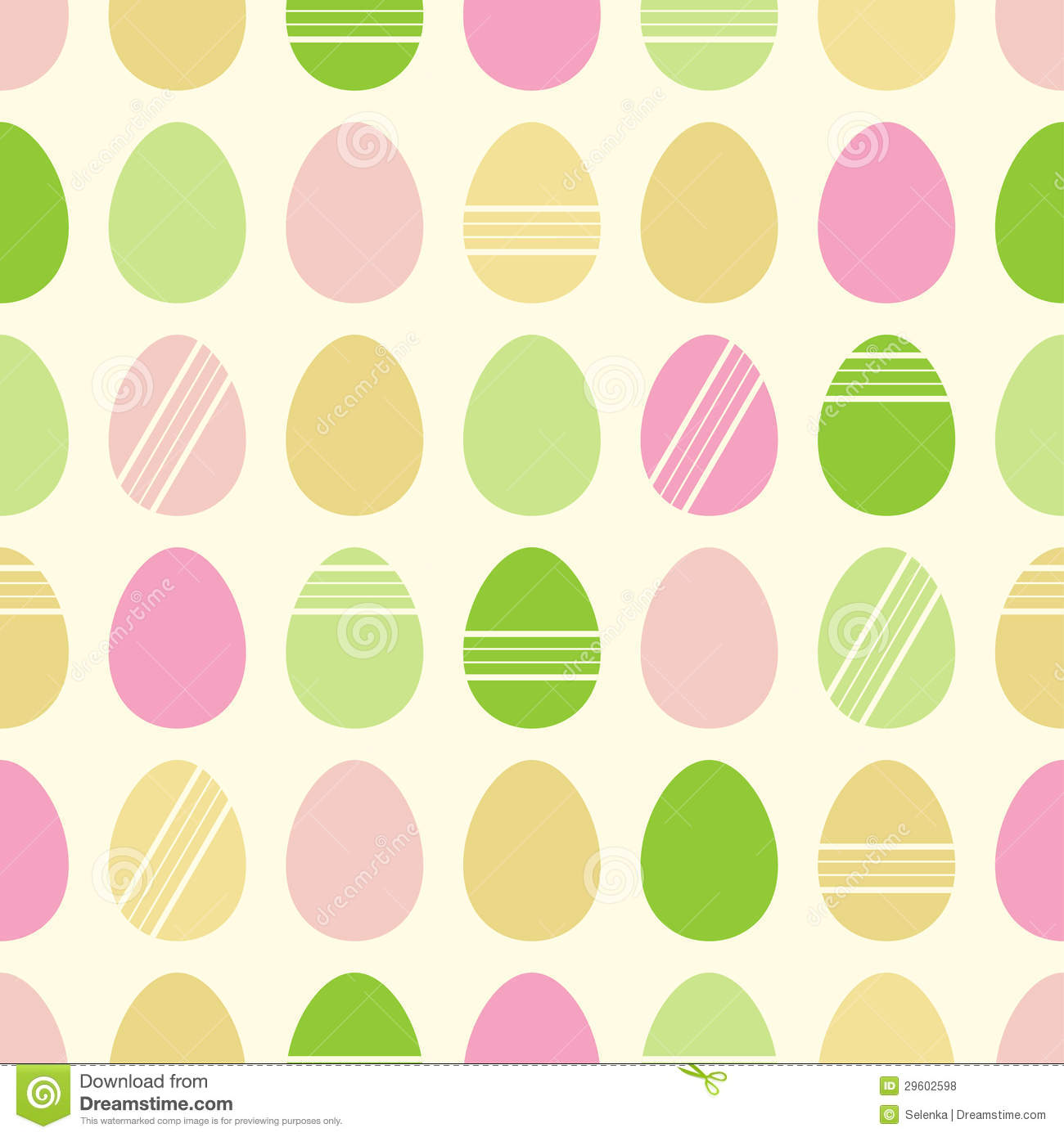 Happy Easter Pattern With Eggs Stock Vector