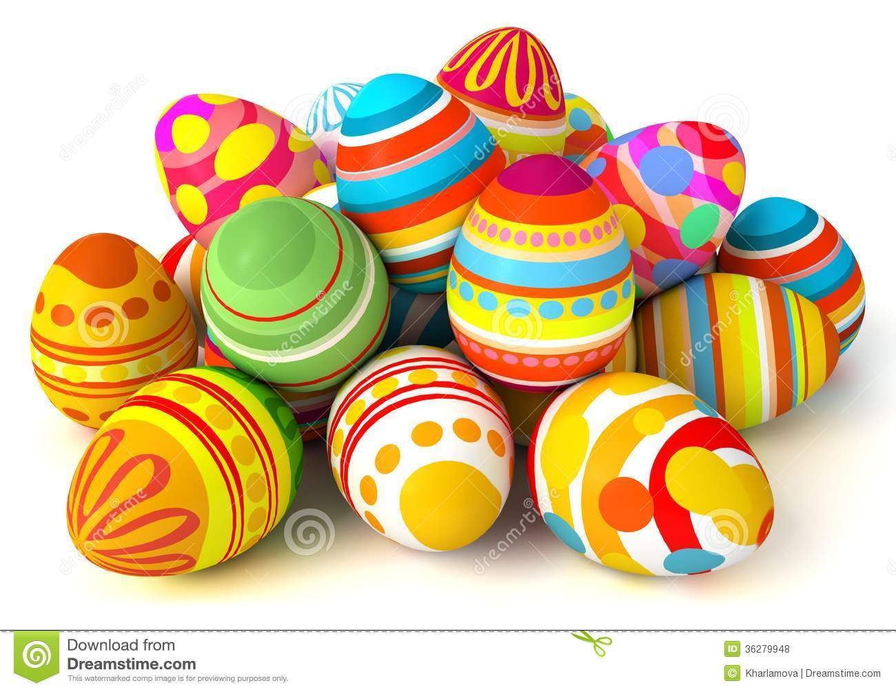 Happy Easter. Pile Of Eggs Royalty Free Stock Photos