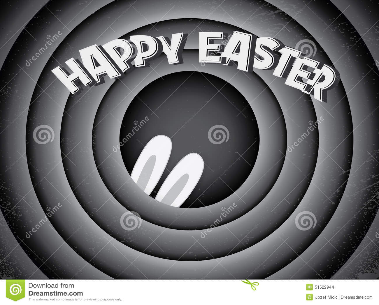 Happy Easter Postcard Background. Vintage Retro Stock Vector ...