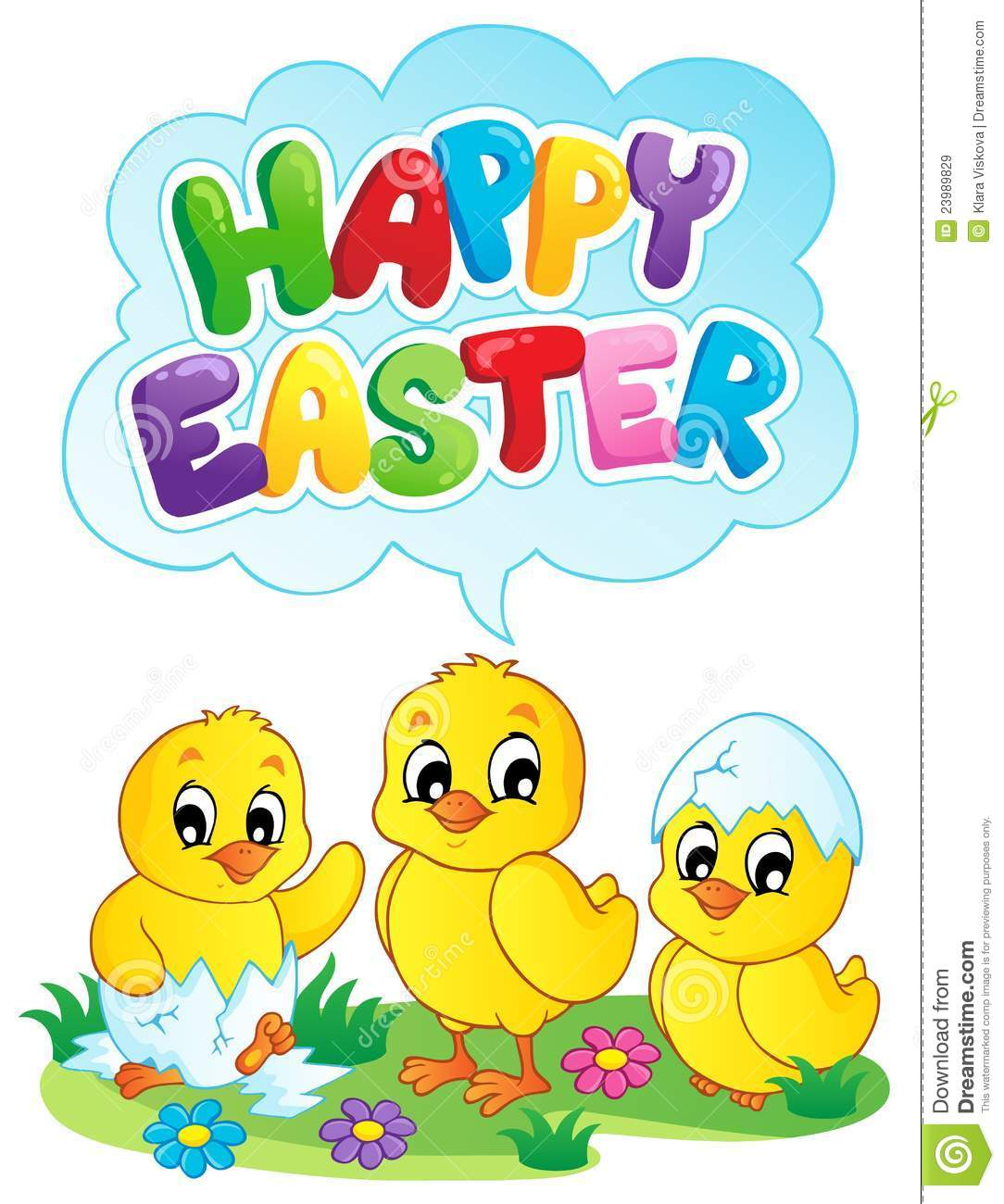 Happy Easter Sign Theme Image 5 Stock Vector ...