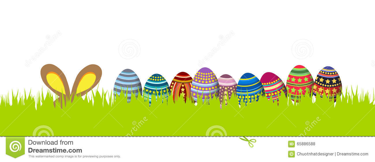 Happy Easter. Spring Banner Stock Illustration - Image ...