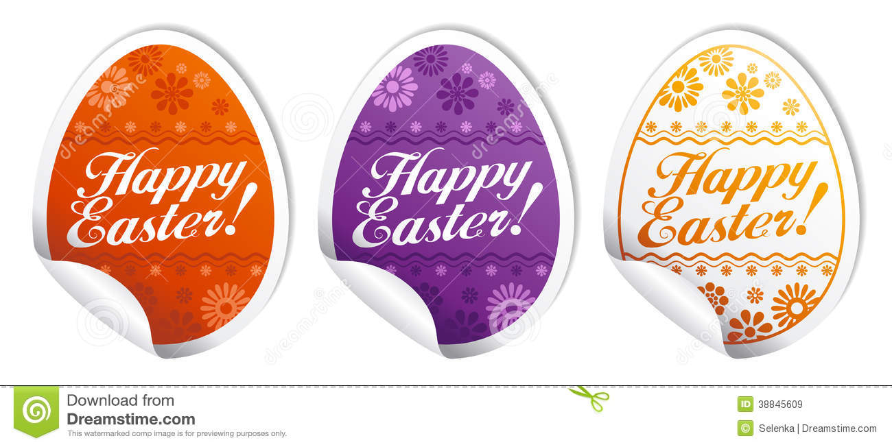 Happy Easter Stickers. Stock Vector - Image: 38845609