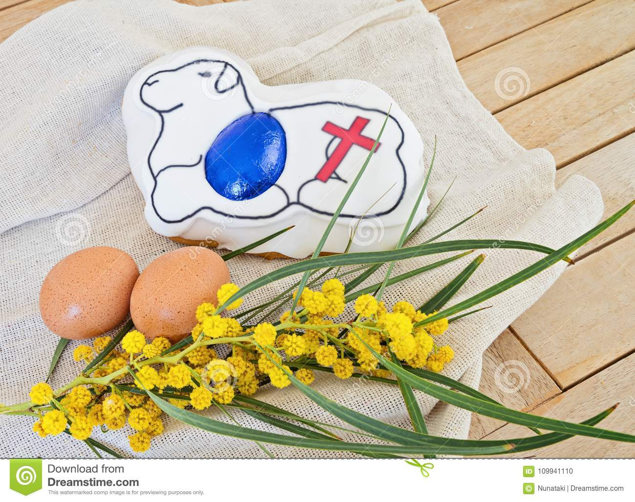 Happy easter sunday brunch concept stock photo image of greetings happy easter sunday brunch concept m4hsunfo