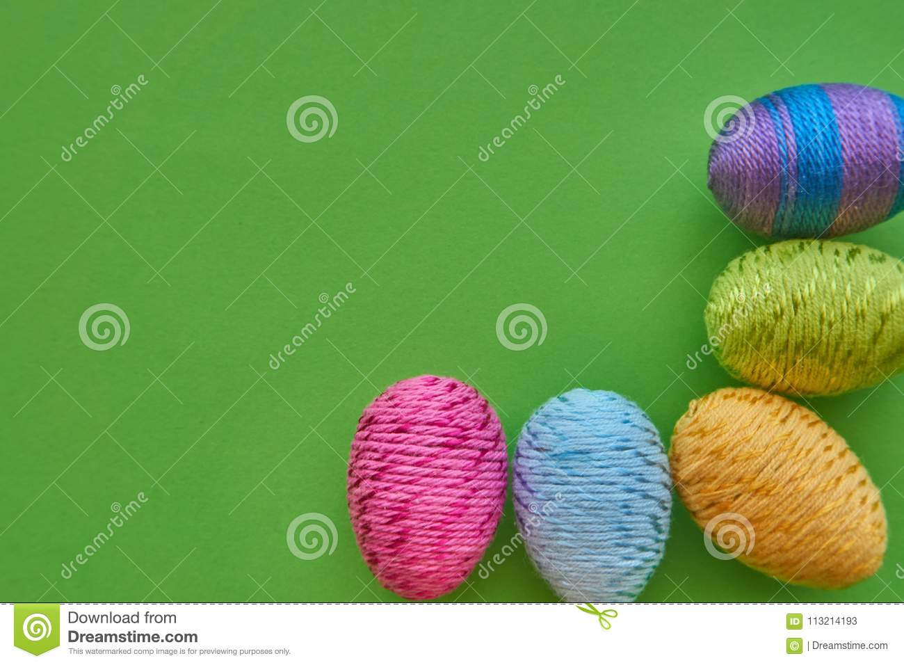 Happy Easter Symbols Colorful Easter Eggs Stock Image Image Of