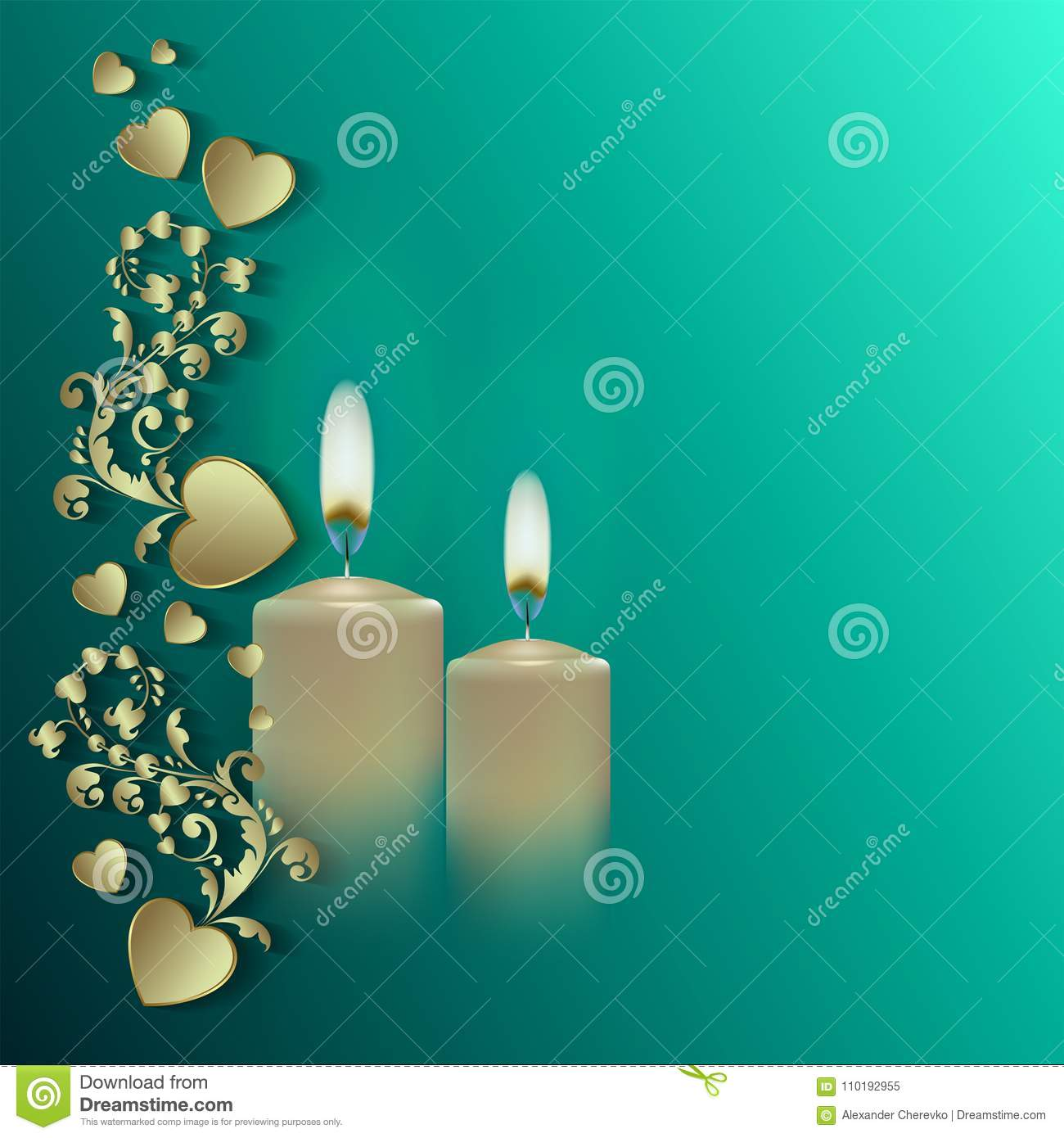 Happy easter, pattern with candles, greeting card