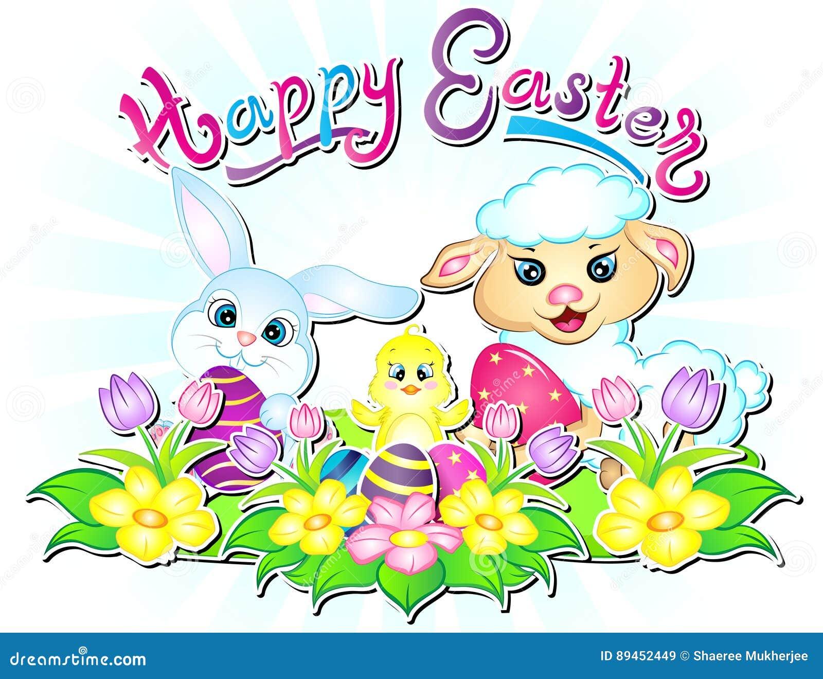 Happy Easter Wallpaper Illustration Stock Illustration