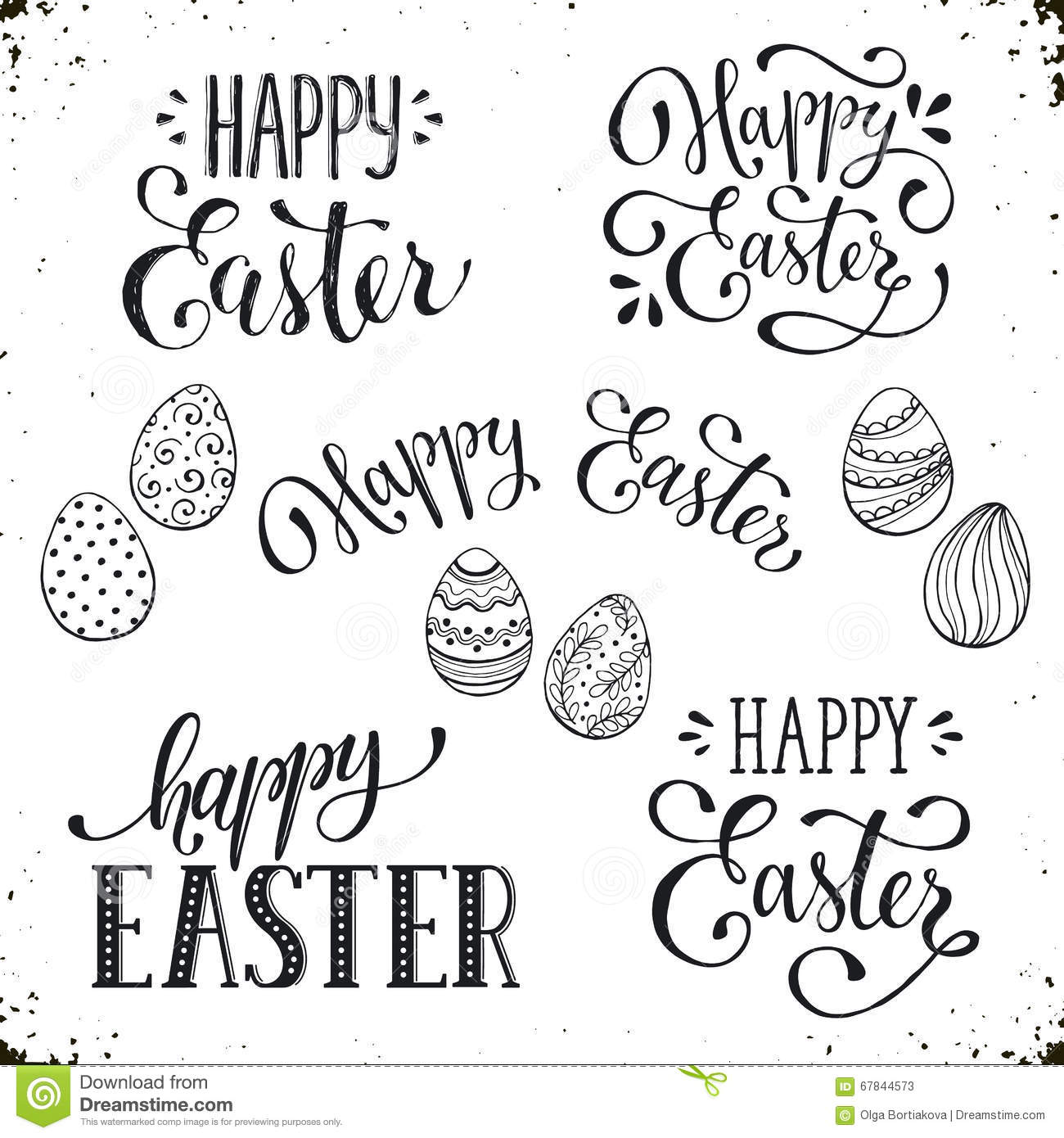 happy easter wording stock vector illustration of graphic 67844573