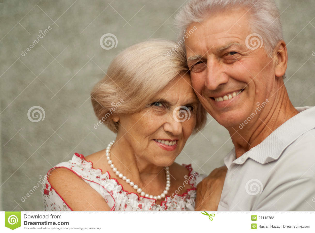 Happy elderly couple enjoying each other s company Happy Elderly Couple