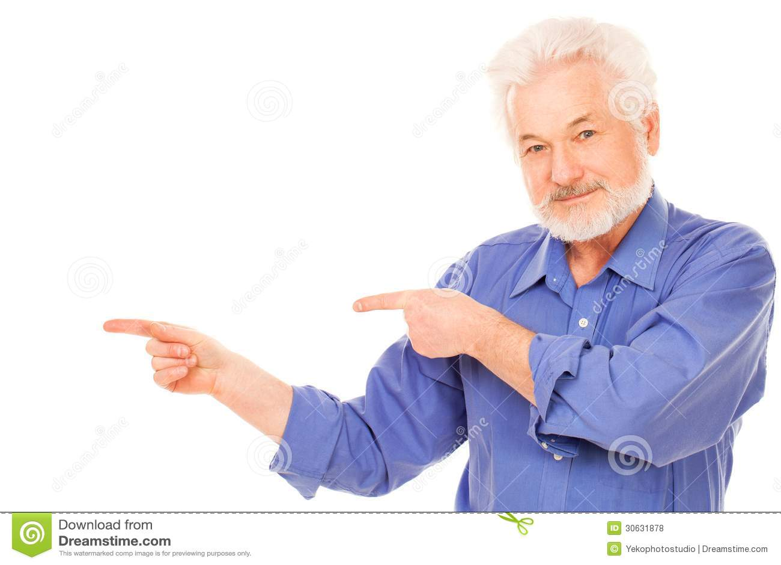 Happy Elderly Man With Beard Royalty Free Stock Photos - Image ...