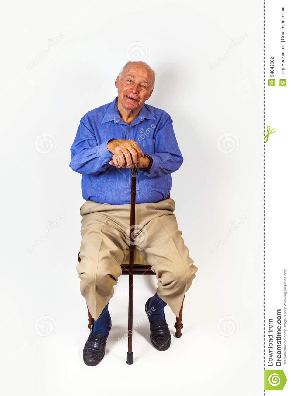 happy elderly man sitting stock photo  image of relax