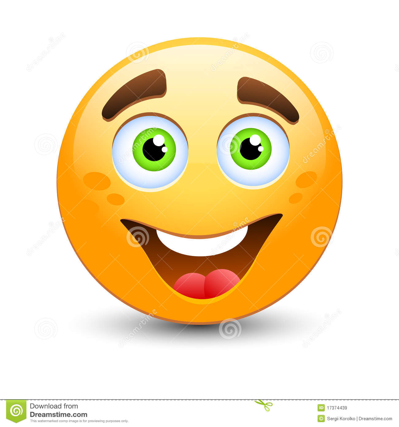 Happy Emoticon Royalty Free Stock Images - Image: 17374439
