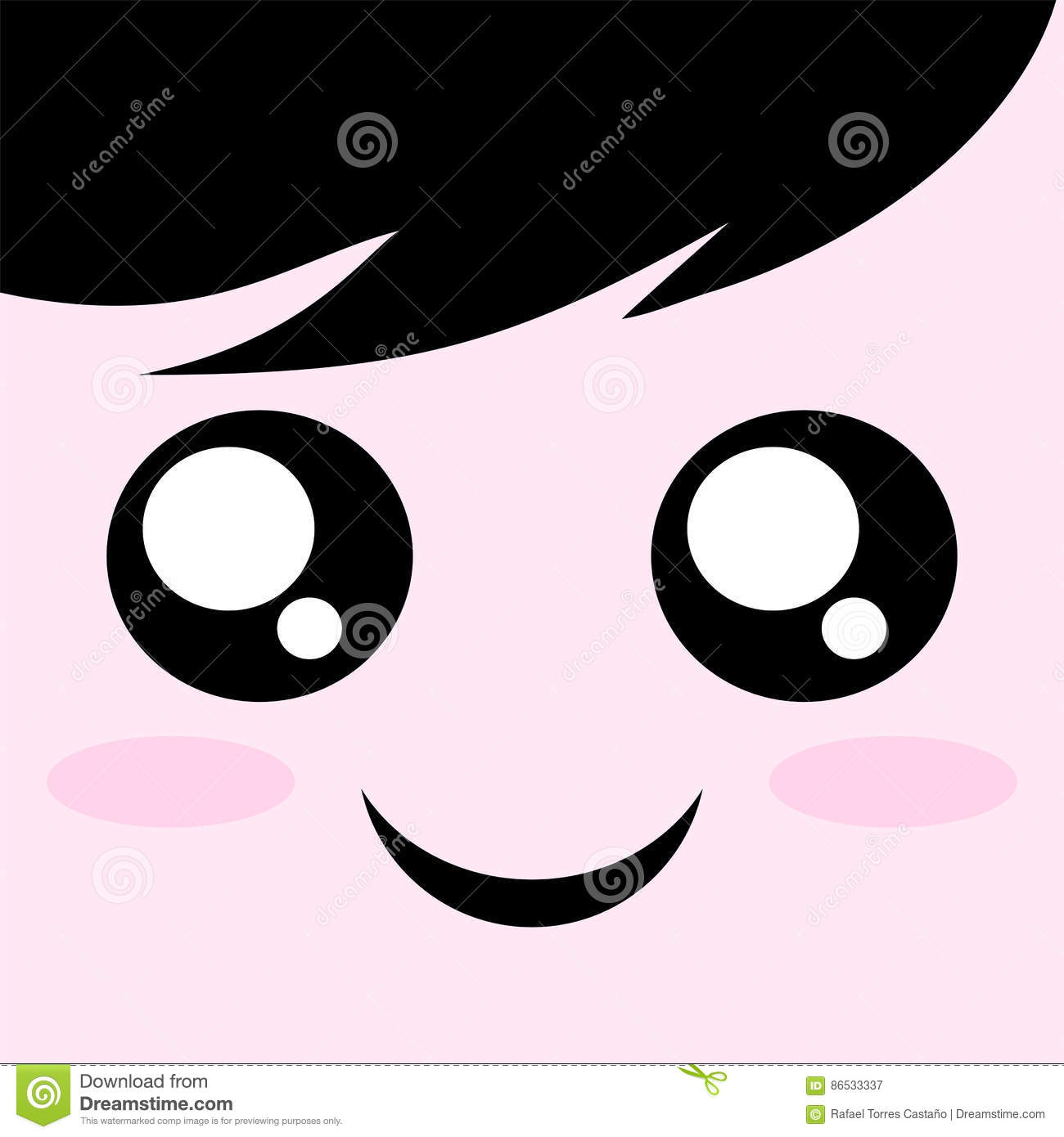 happy face draw stock vector illustration of creative 86533337