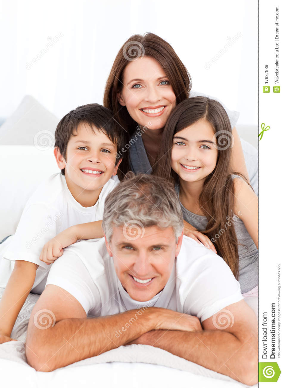 Happy Familly Looking At The Camera Royalty Free Stock Image ...