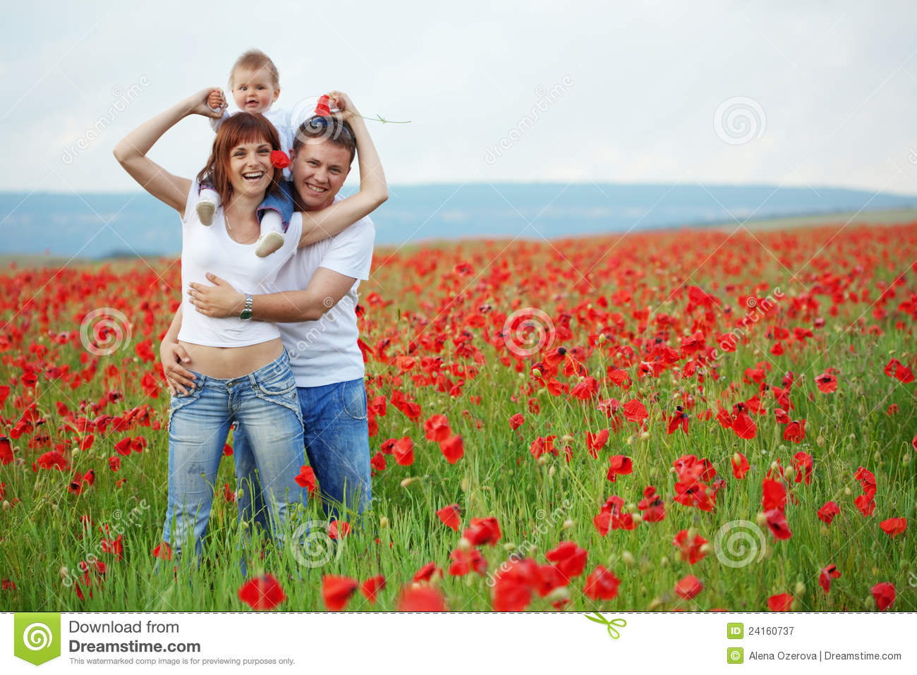 Download Happy family stock image. Image of countryside, cute - 24160737