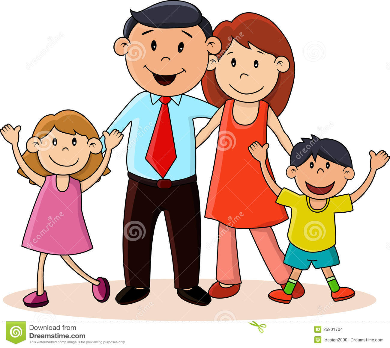 Stock Images: Happy family. Image: 25901704
