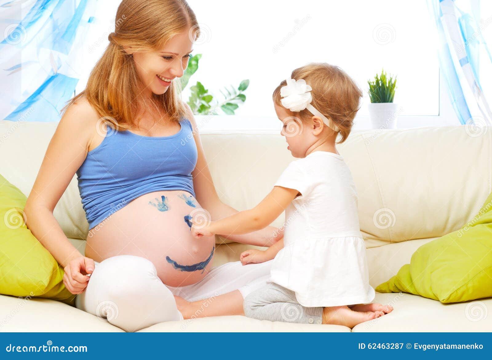 Фото беременной мамы и детей