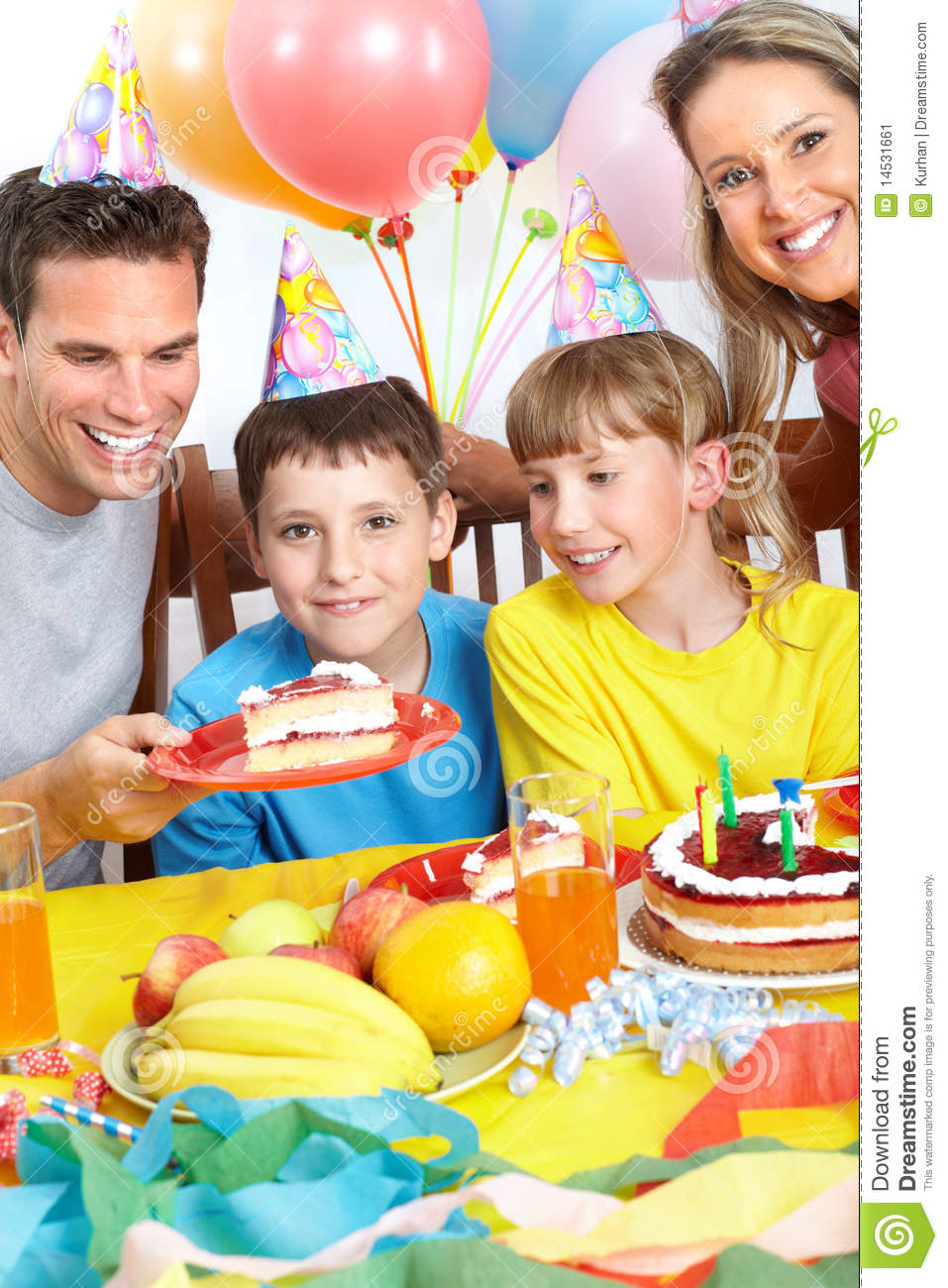 Happy Family And Birthday Stock Image Image 14531661