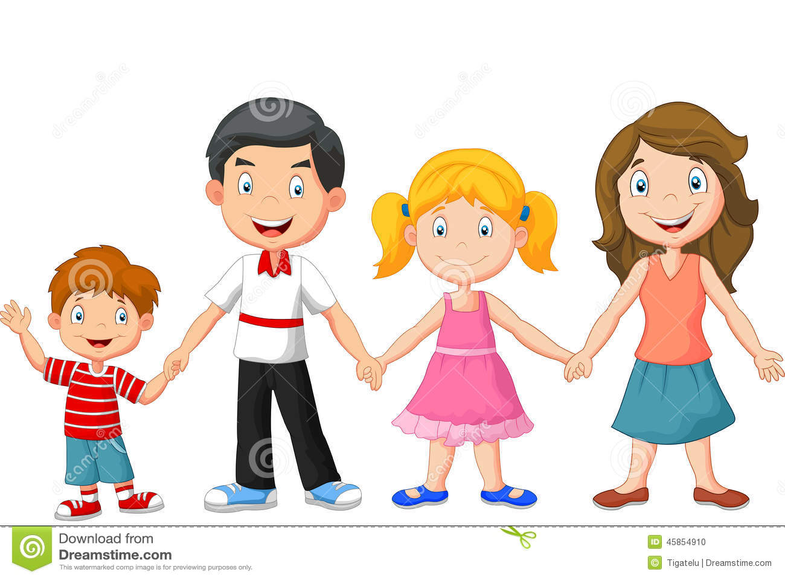 Dealer For The People >> Happy Cartoon Family Cartoon Vector | CartoonDealer.com #45853963