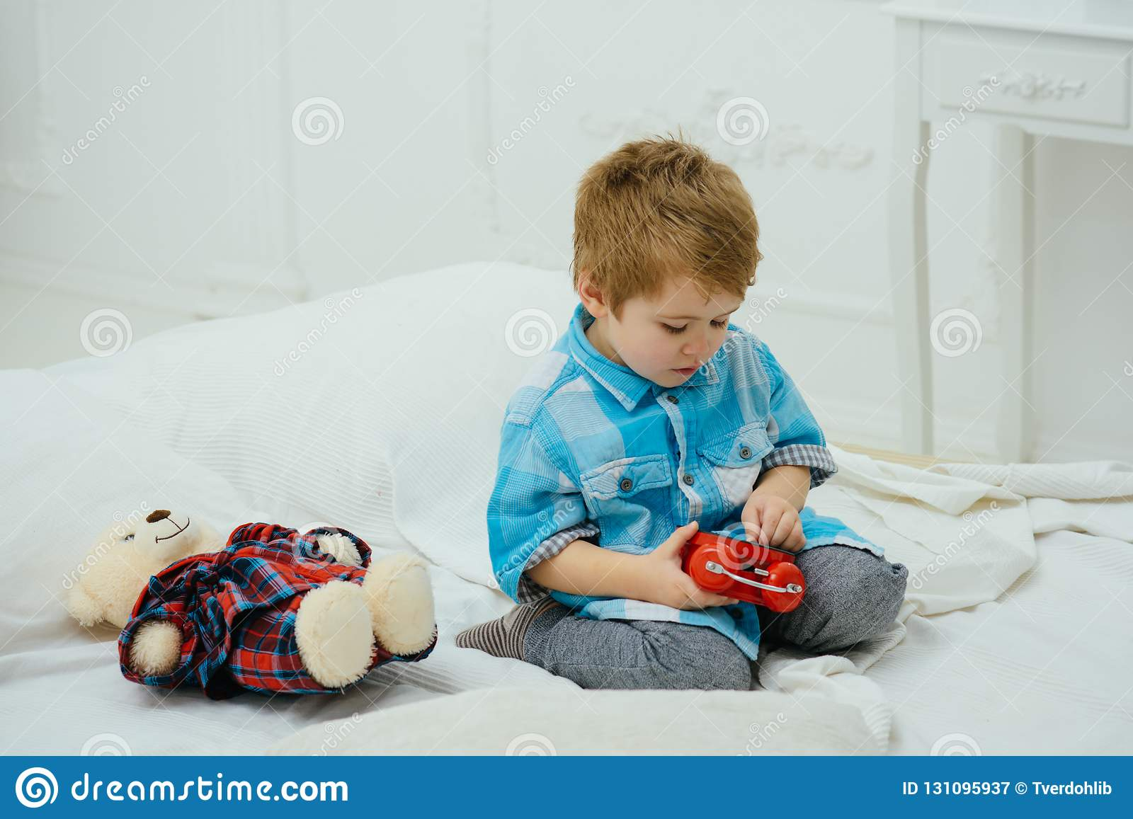 Happy family and childrens day. happy childhood. Care and development. Amazing day. little boy play at home. Little boy