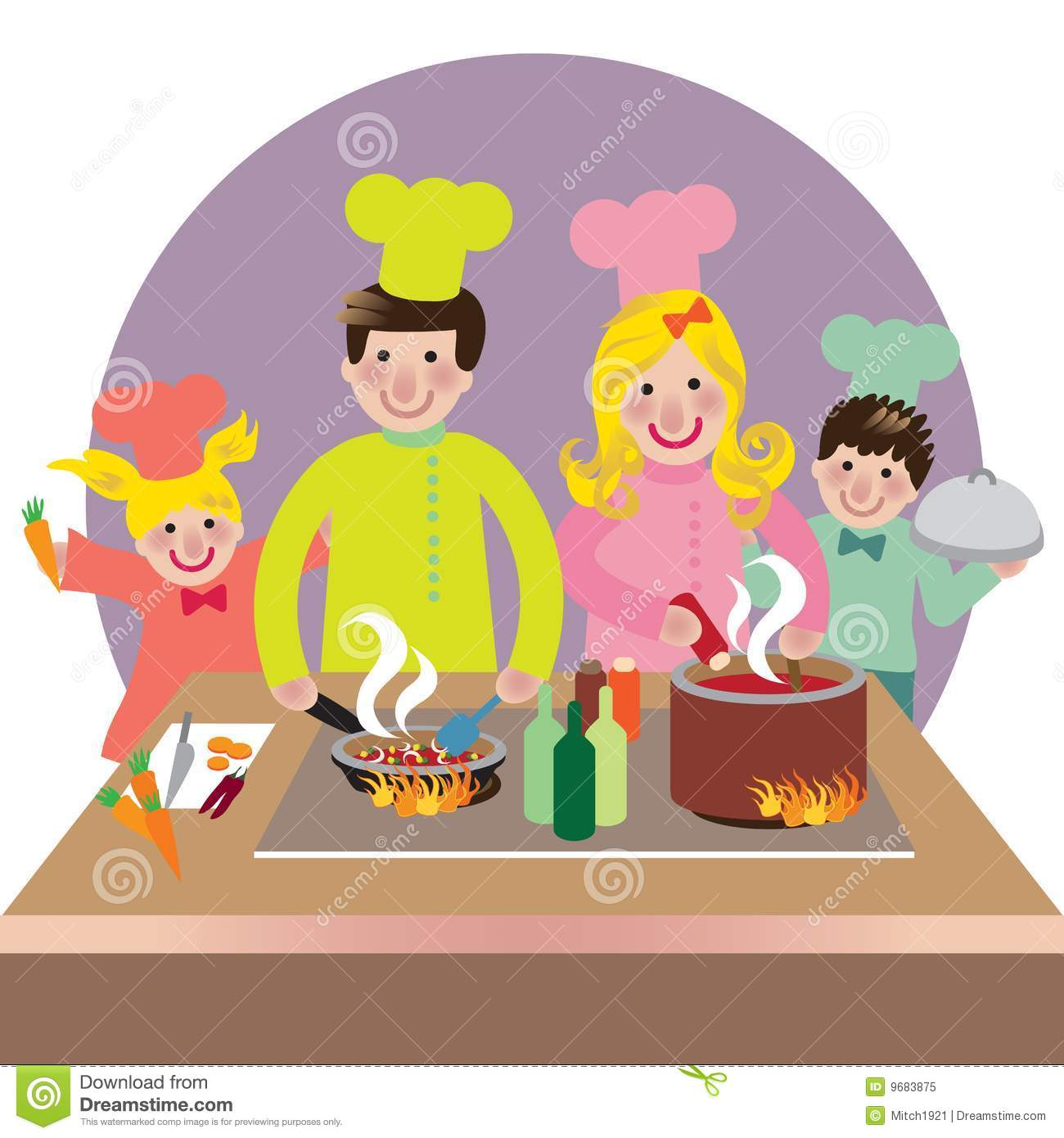 Happy Family Cooking Royalty Free Stock Photo Image 9683875