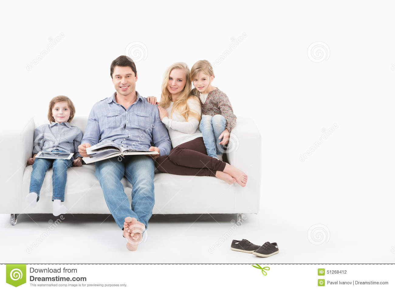 Royalty Free Stock Photo. Download Happy Family On The Couch ...