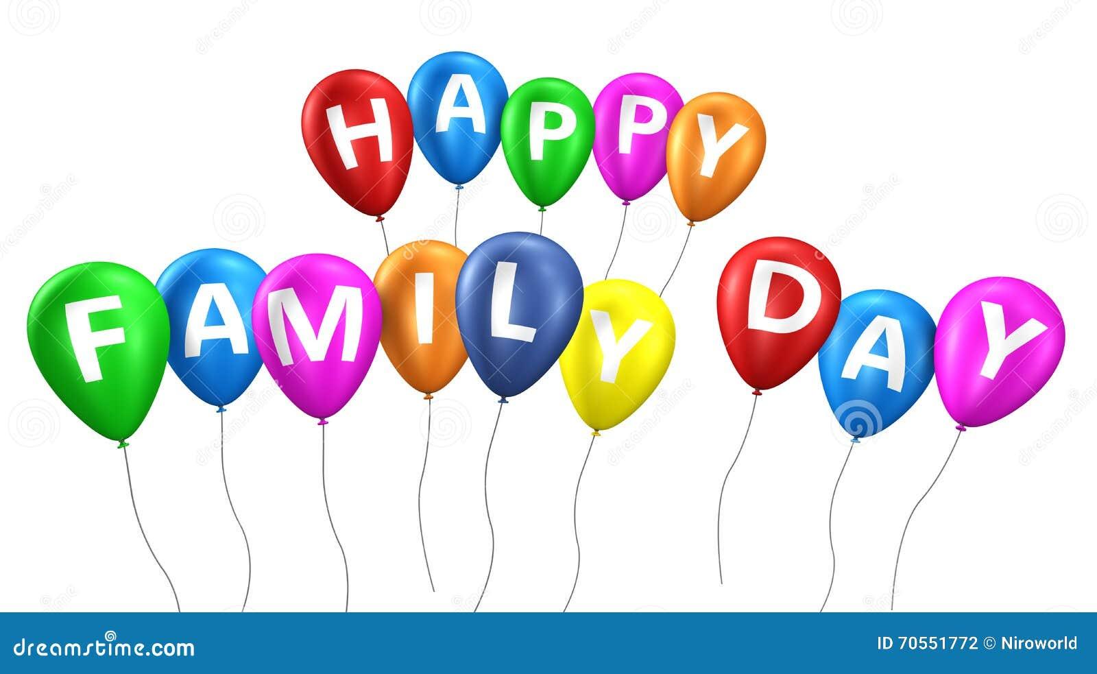 Happy Family Day Balloons