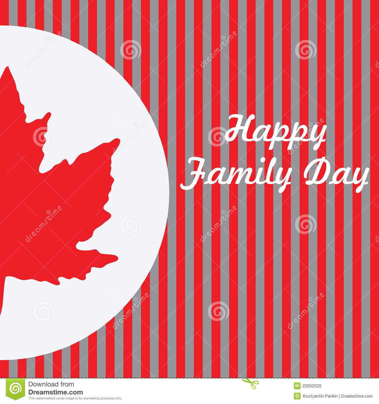 Happy Family Day - Canada. ector illustration on a holiday in Canada ...