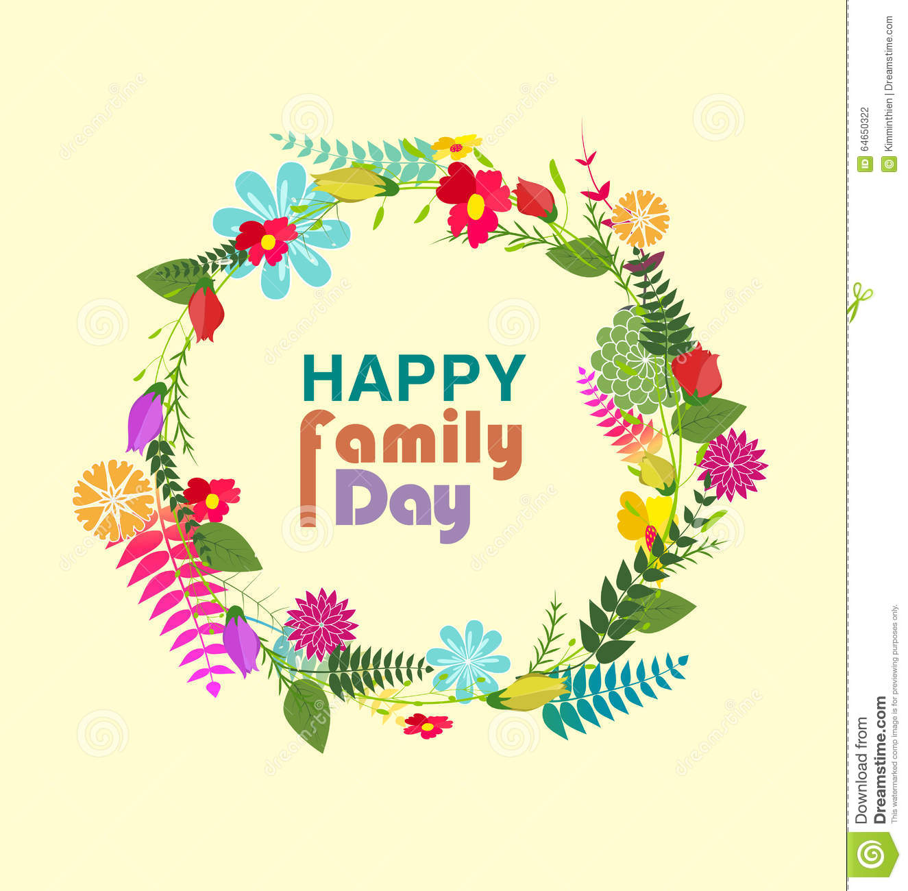 Happy Family Day Stock Vector - Image: 64650322