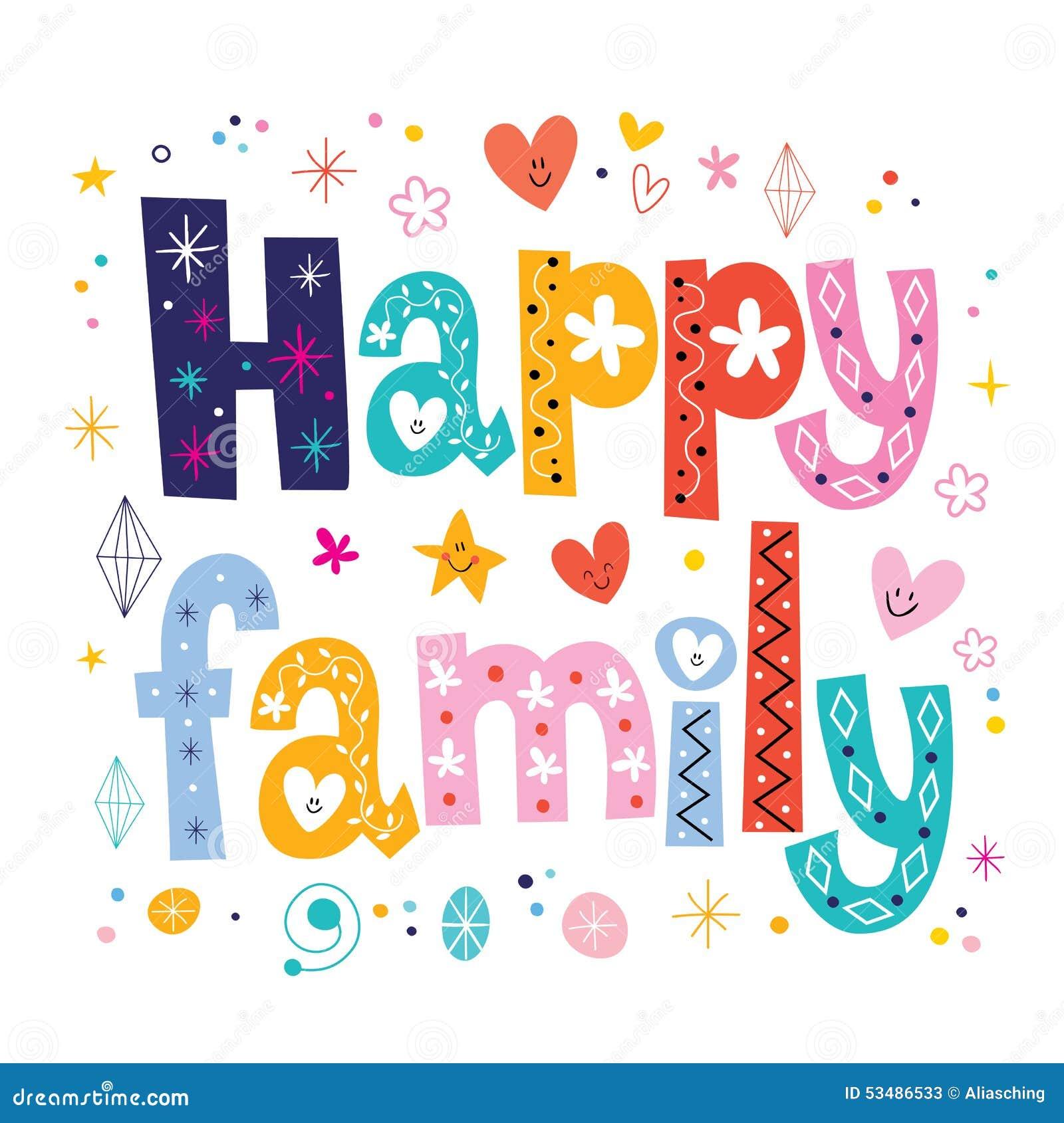 happy family stock vector image 53486533 housewarming clip art for labels housewarming clip art writing