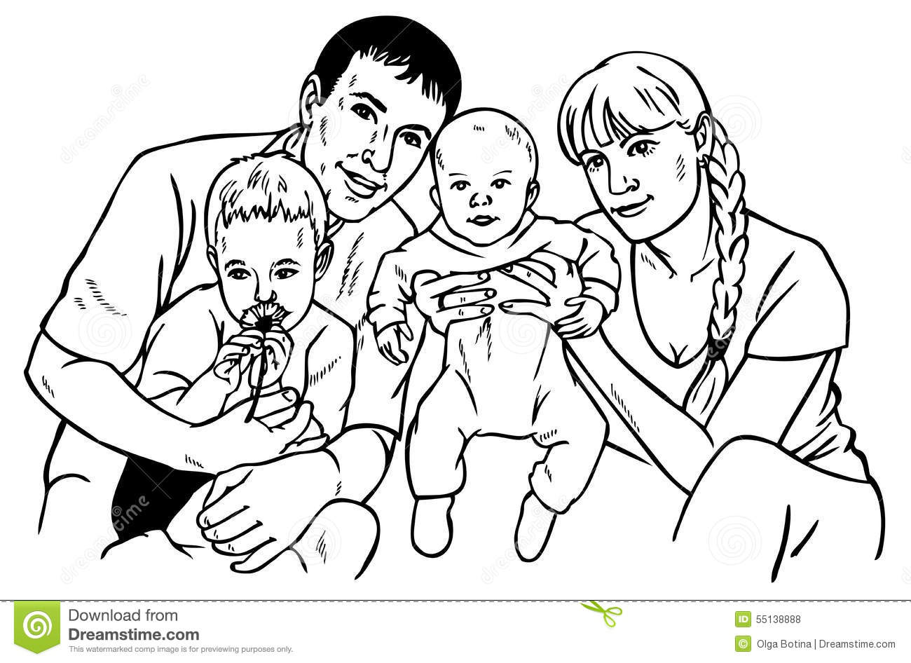 Happy family drawing