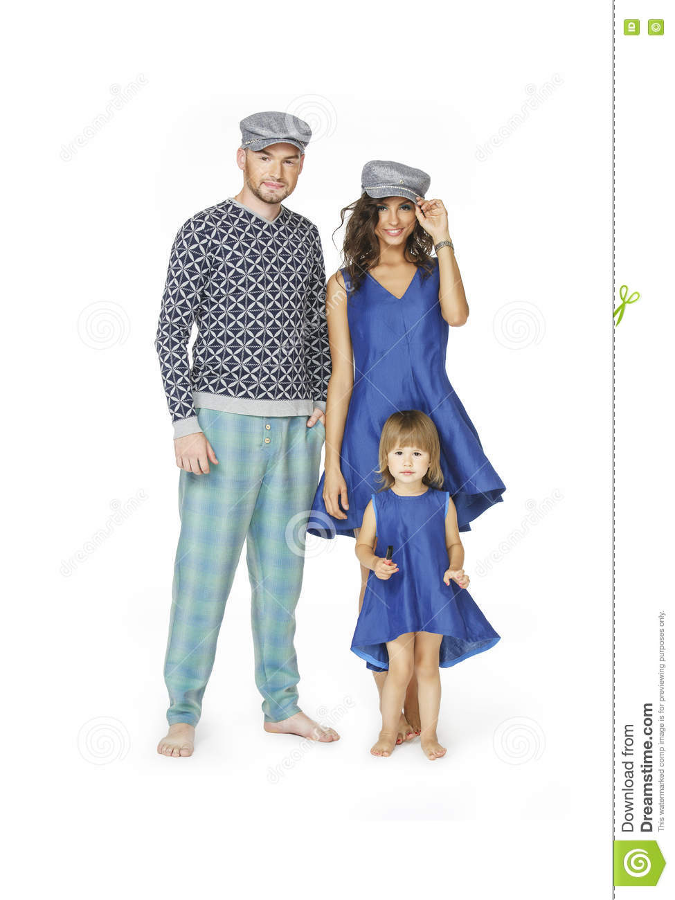 Happy Family In Fashion Clothes Stock Image Image Of Isolated Males 77605509