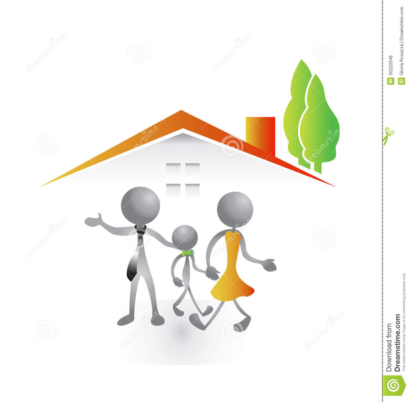 Family And New House Logo Royalty Free Stock Image Image