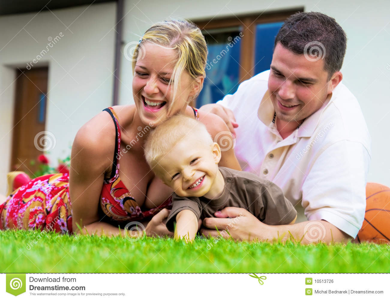 Happy Family In Front Of New House Royalty-Free Stock ... Happy Asian Family In Front Of House