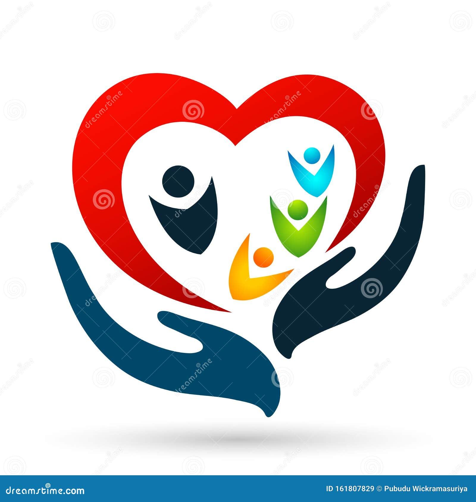 Family,parent,kid,heart, Logo ,parenting,care,circle,health