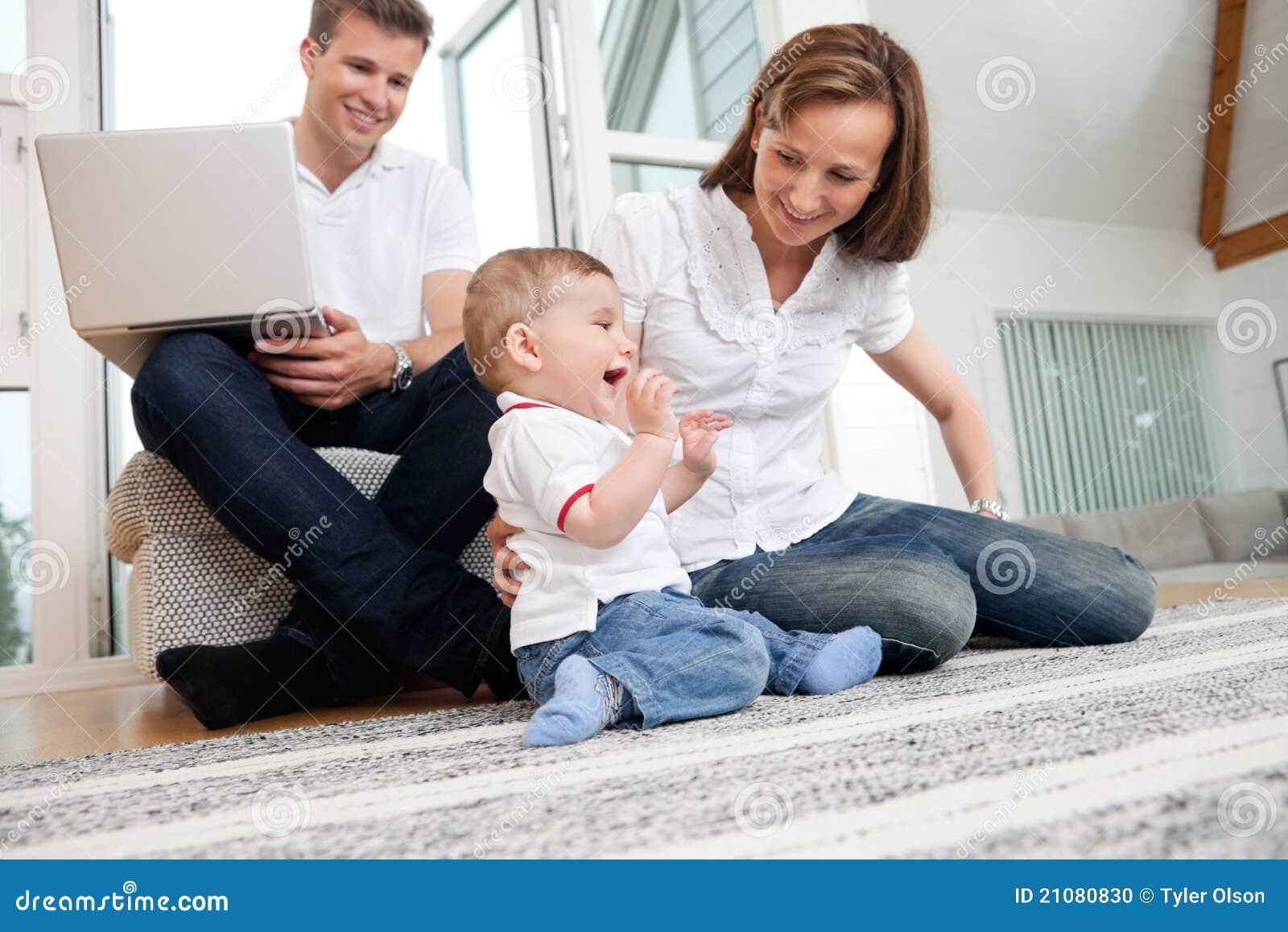 Happy Family At Home Stock Photo Image 21080830