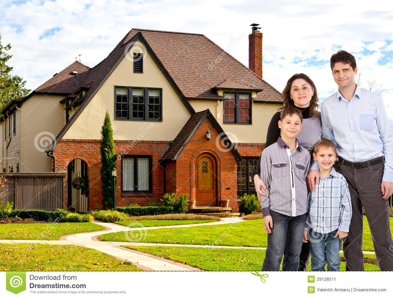 Happy Family And House Stock Image Image 29128511