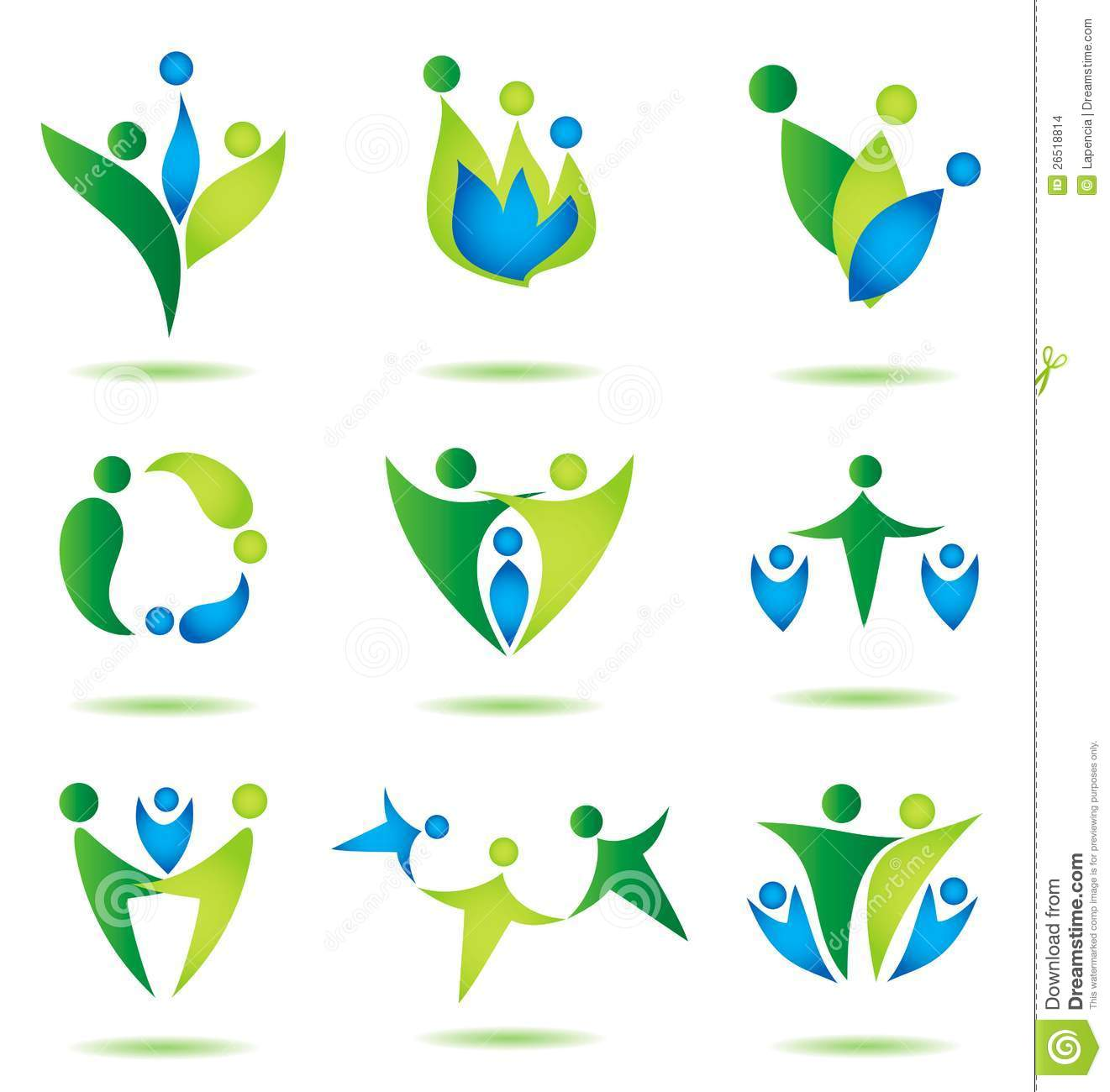 ... family icons collection multicolored in simple figures, logo design