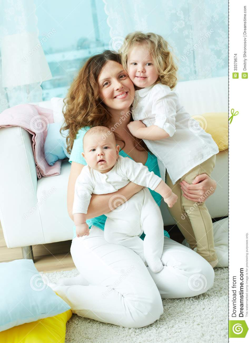 Happy Family Life Stock Images Image 33379674