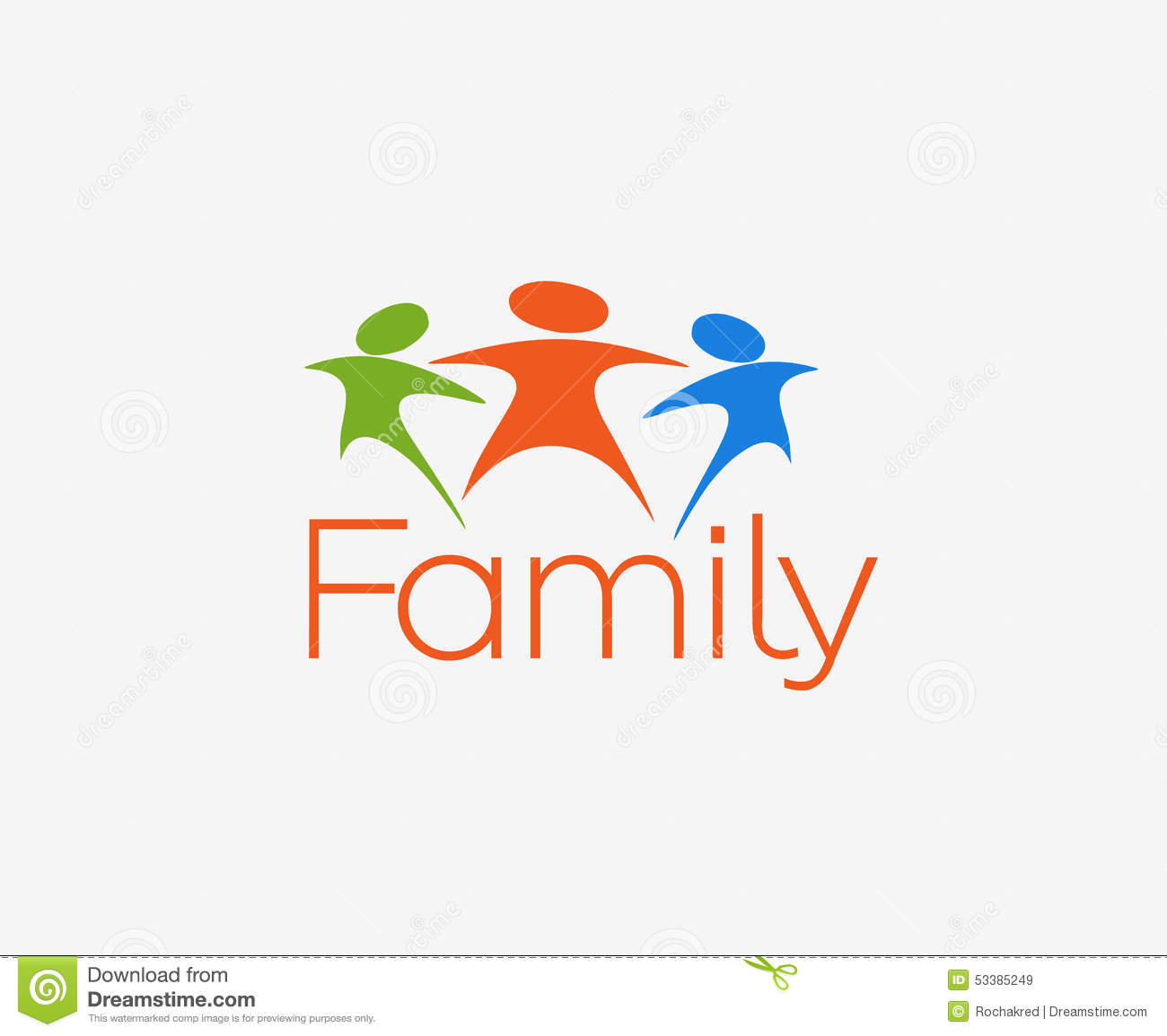 House Plans And Designs Happy Family Logo Stock Vector Image 53385249