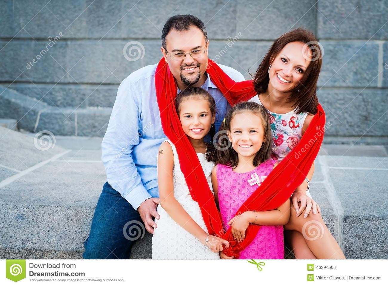 Happy Family Stock Photo - Image: 43394506