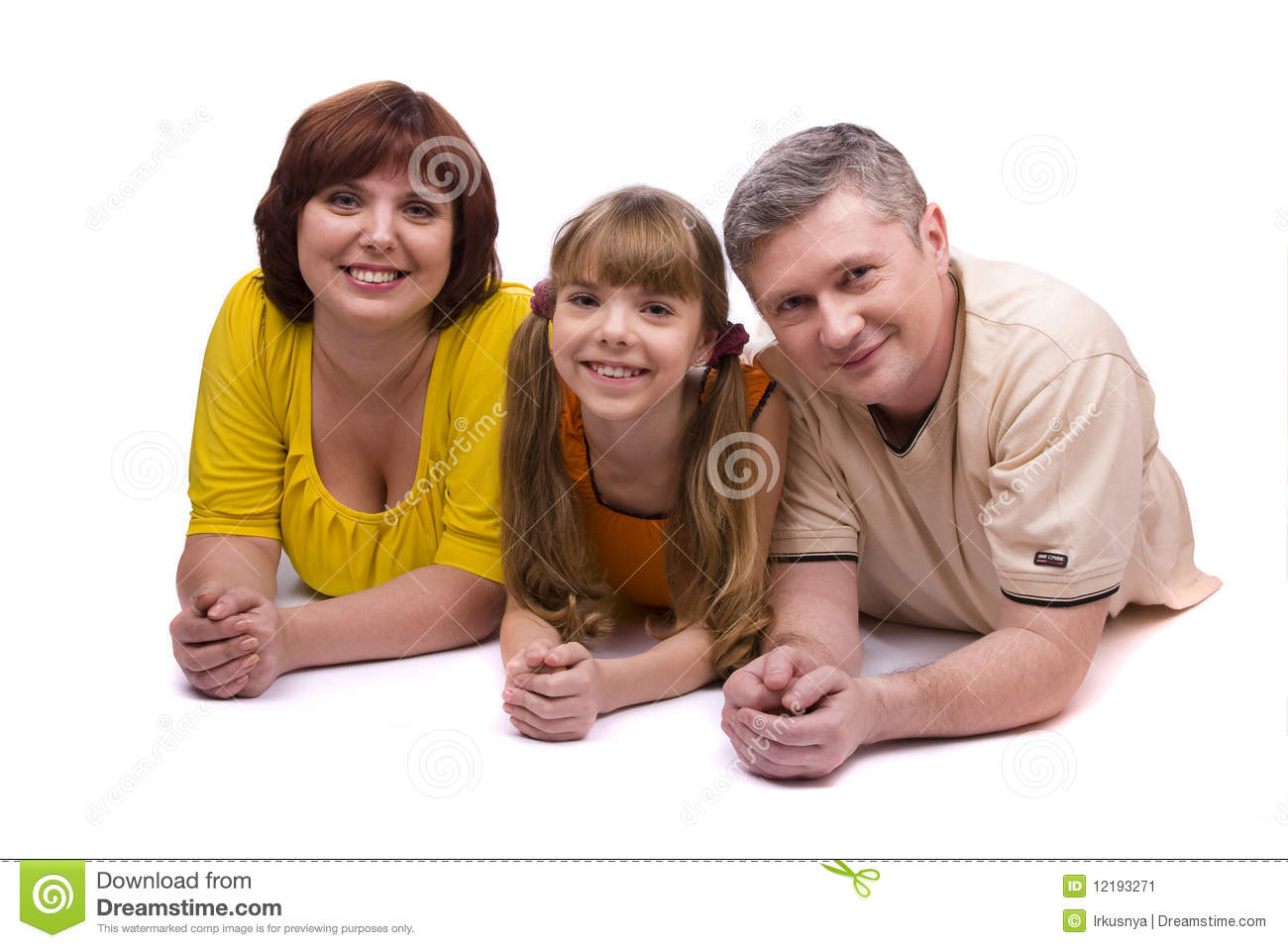Happy family. Mother, father and daughter