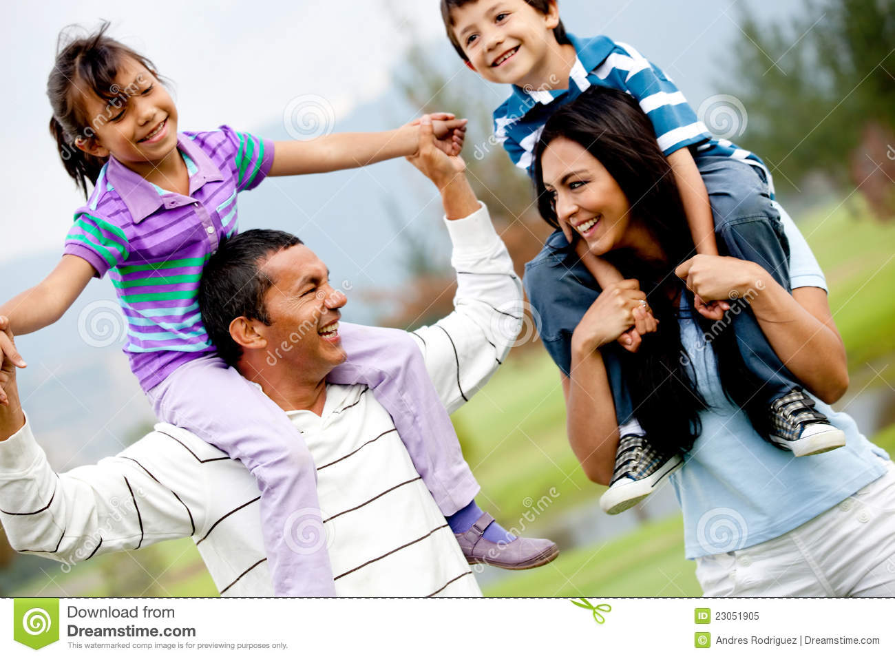 Happy Family Outdoors Royalty Free Stock Photo - Image: 23051905