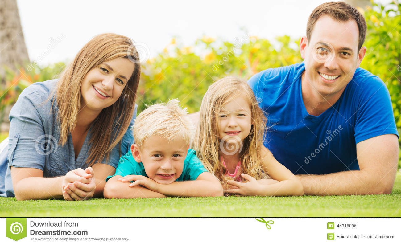 happy family outside stock photo image of carrying having 45318096