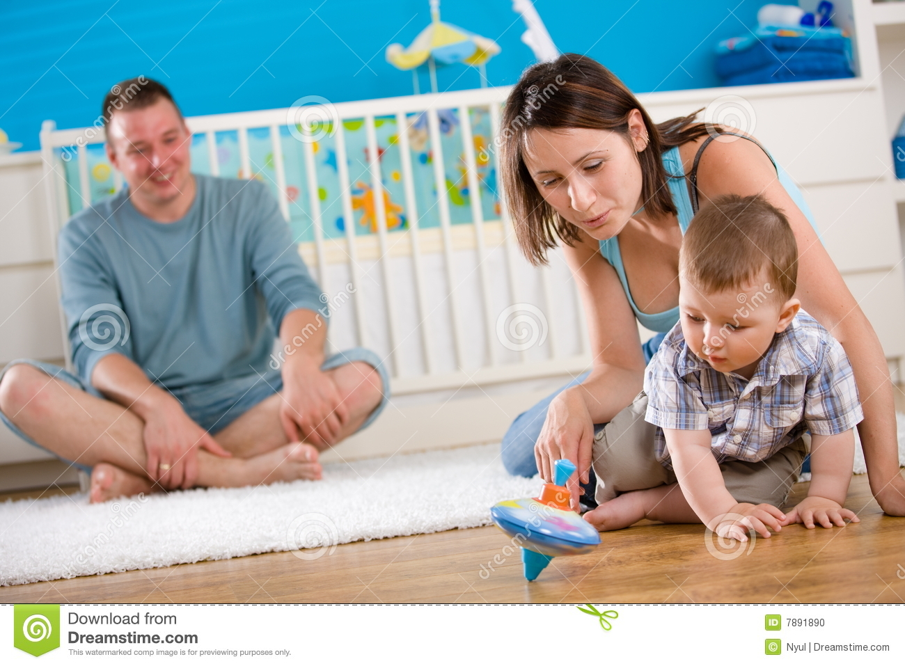 Happy Family Playing At Home Stock Photo Image 7891890