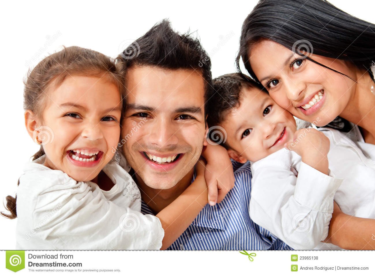 Happy Family Portrait Royalty Free Stock Photos - Image: 23965138